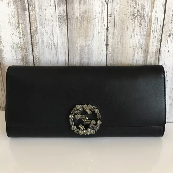 d909288ead8f Gucci Bags | Gg Broadway Swarovski Crystal Clutch Leather | Poshmark